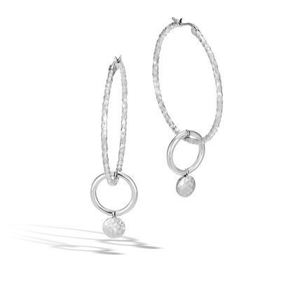 83d2a2f68 Dot Drop Earring in Hammered Silver