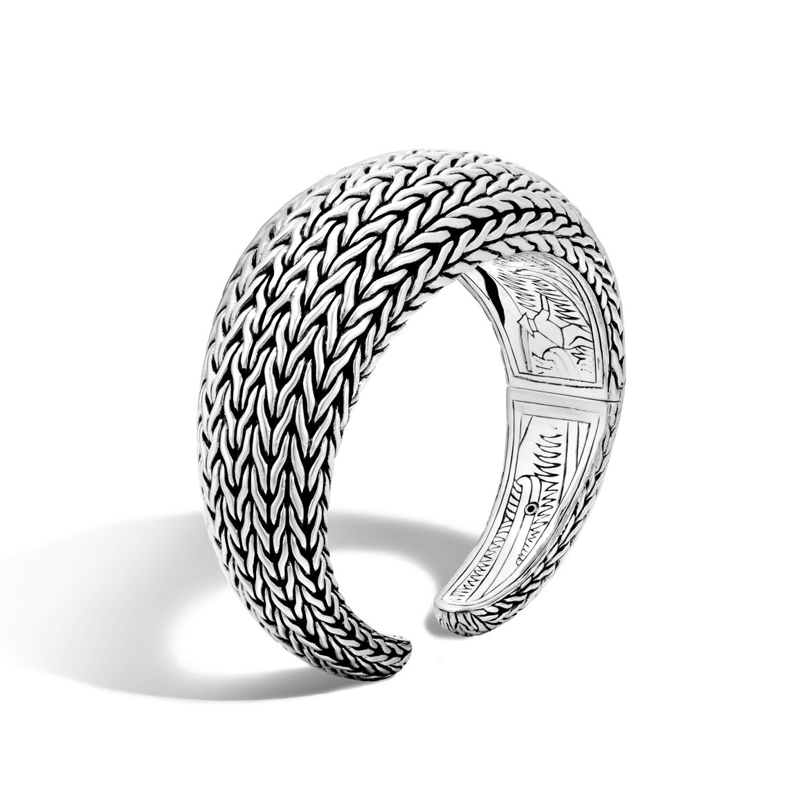 Classic Chain 27MM Graduated Kick Cuff in Silver