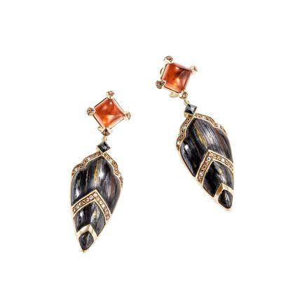 Cinta Legends Naga Trilogy Volcano Earrings in 18K Gold