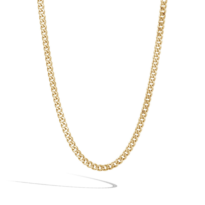 Classic Chain 3.6MM Curb Link Necklace in 18K Gold, , large