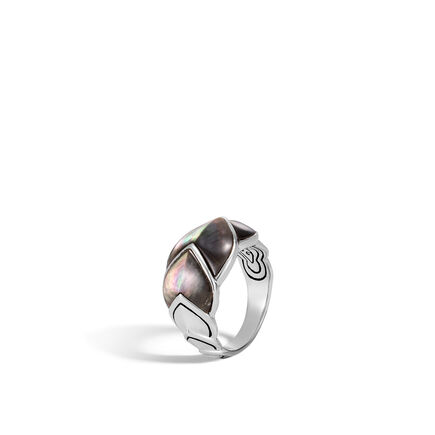 Legends Naga 15MM Ring in Silver with Gemstone