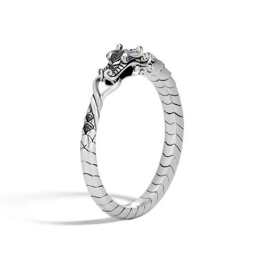 Legends Naga Bracelet in Silver with Gemstone, Black Spinel, large