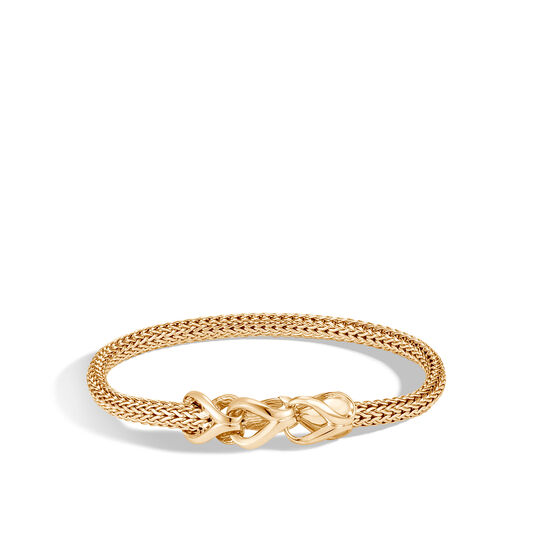 Asli Classic Chain Link 5MM Station Bracelet in 18K Gold, , large