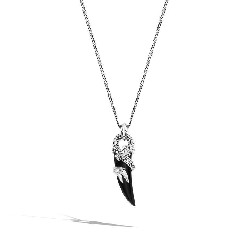 Legends Naga Pendant Necklace in Silver, , large
