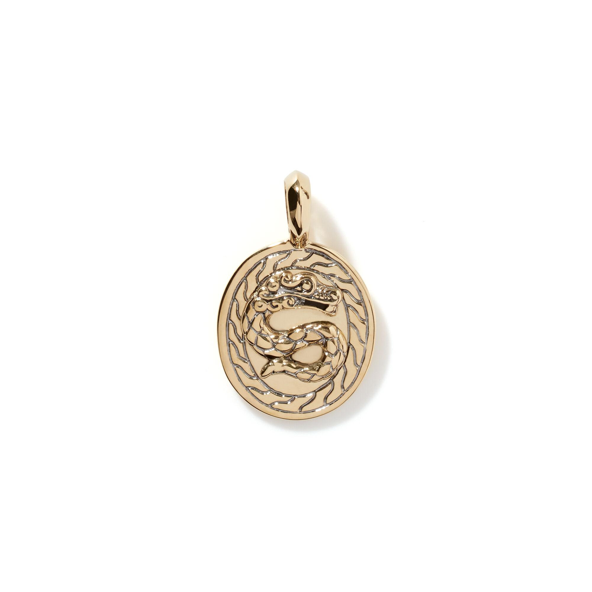 Legends Naga Pendant in 18K Gold, , large
