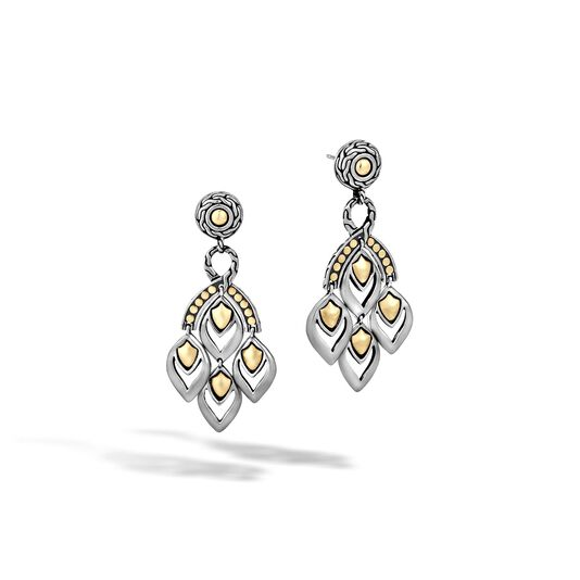 Legends Naga Chandelier Earring in Silver and 18K Gold , , large