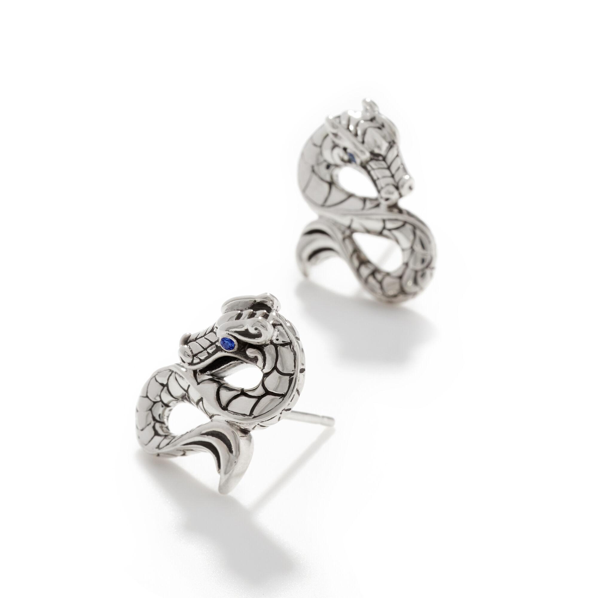 Legends Naga Stud Earrings in Silver, , large