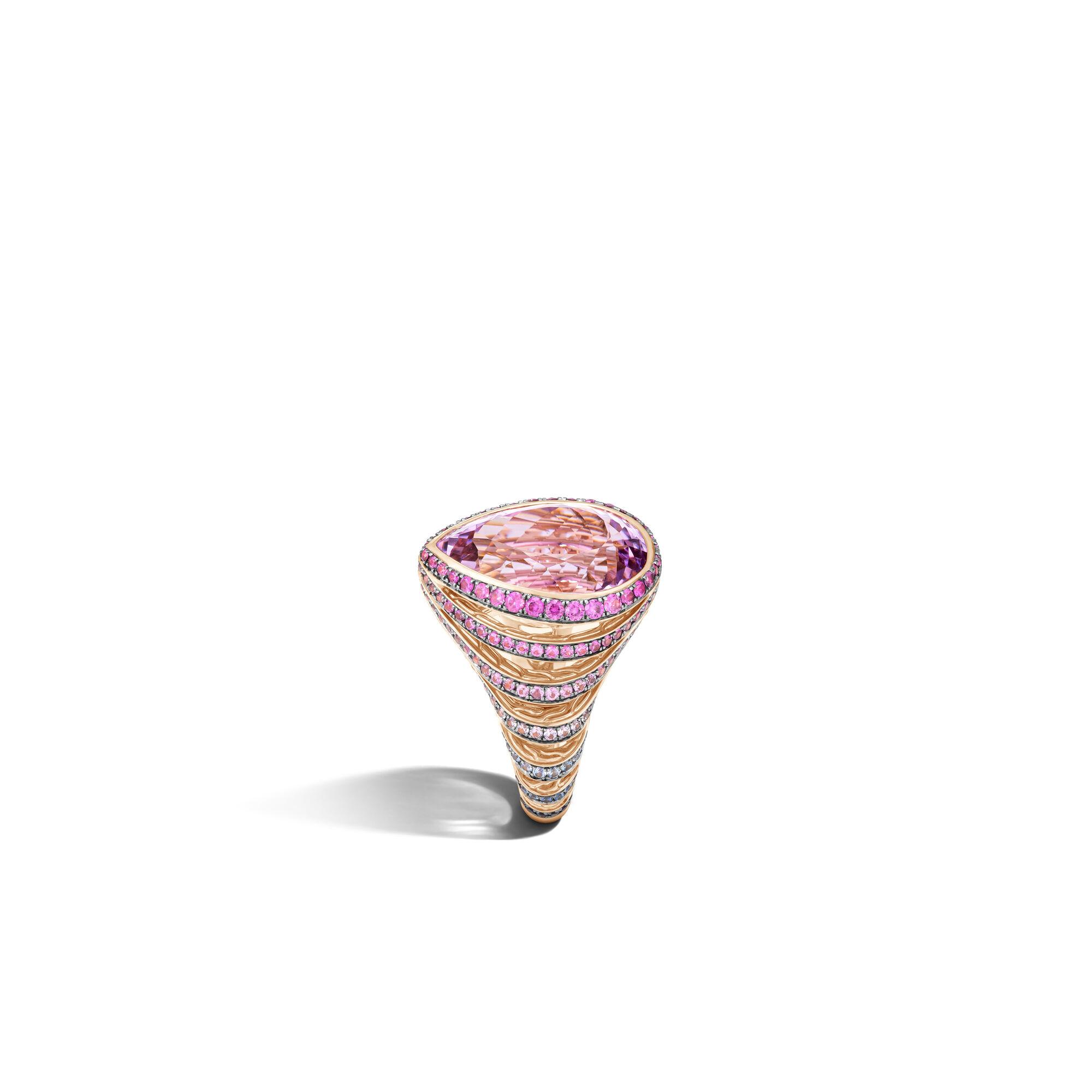 Classic Chain Cermin Fajar Ring, Pink Sapphire, large
