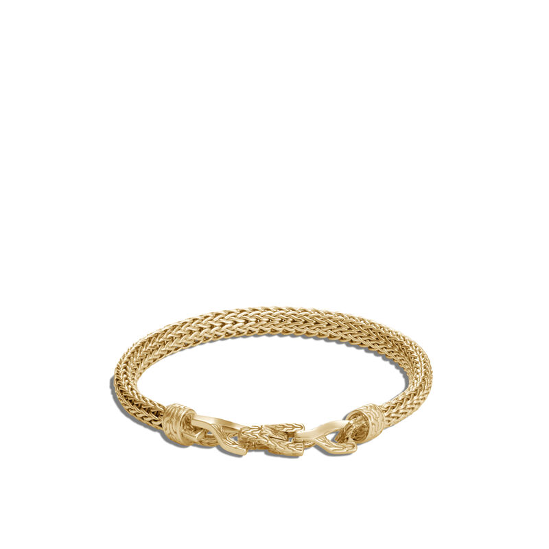 Asli Classic Chain Link 6.5MM Station Bracelet in 18K Gold, , large