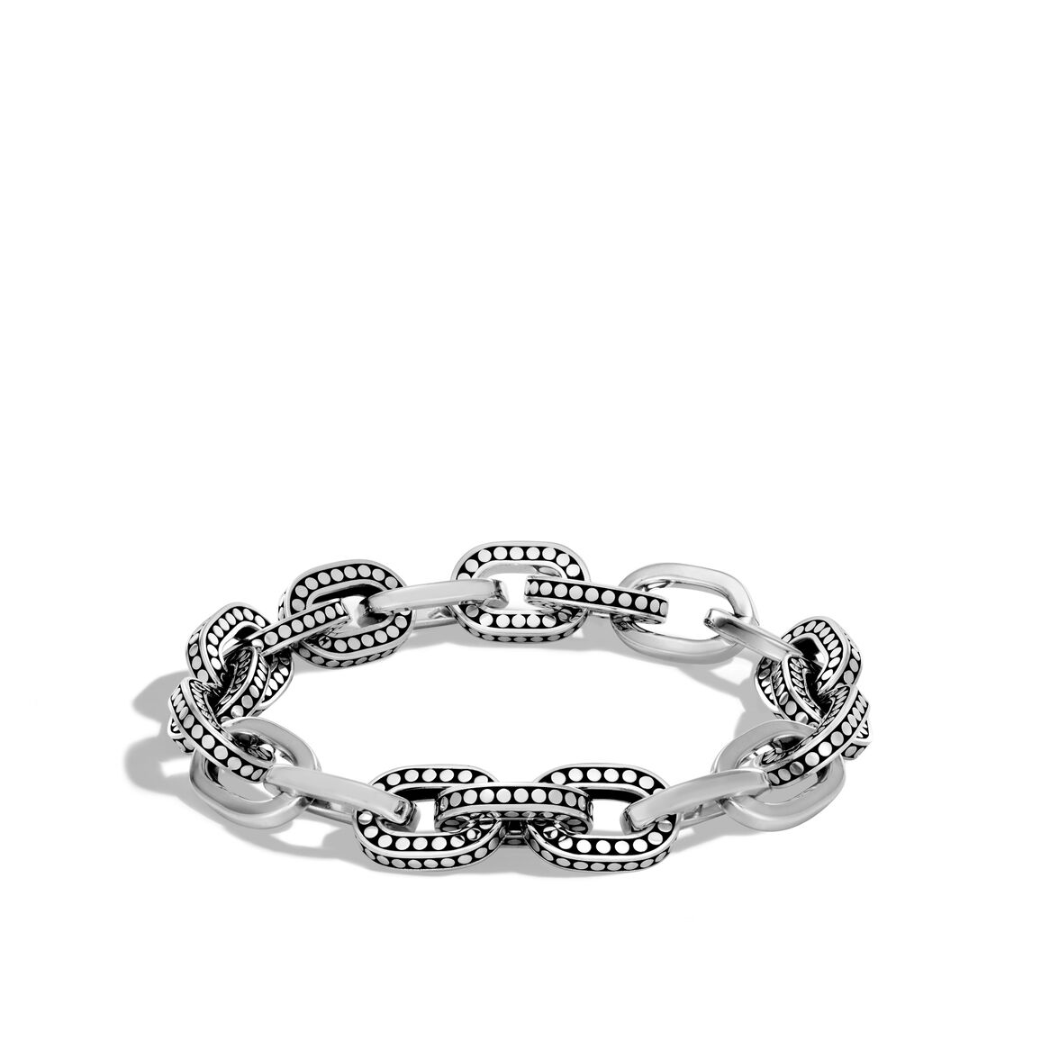 Dot 11.5MM Link Bracelet in Silver