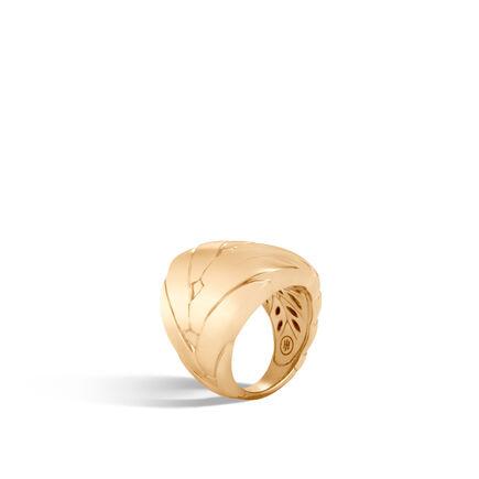 Modern Chain 24MM Ring in 18K Gold