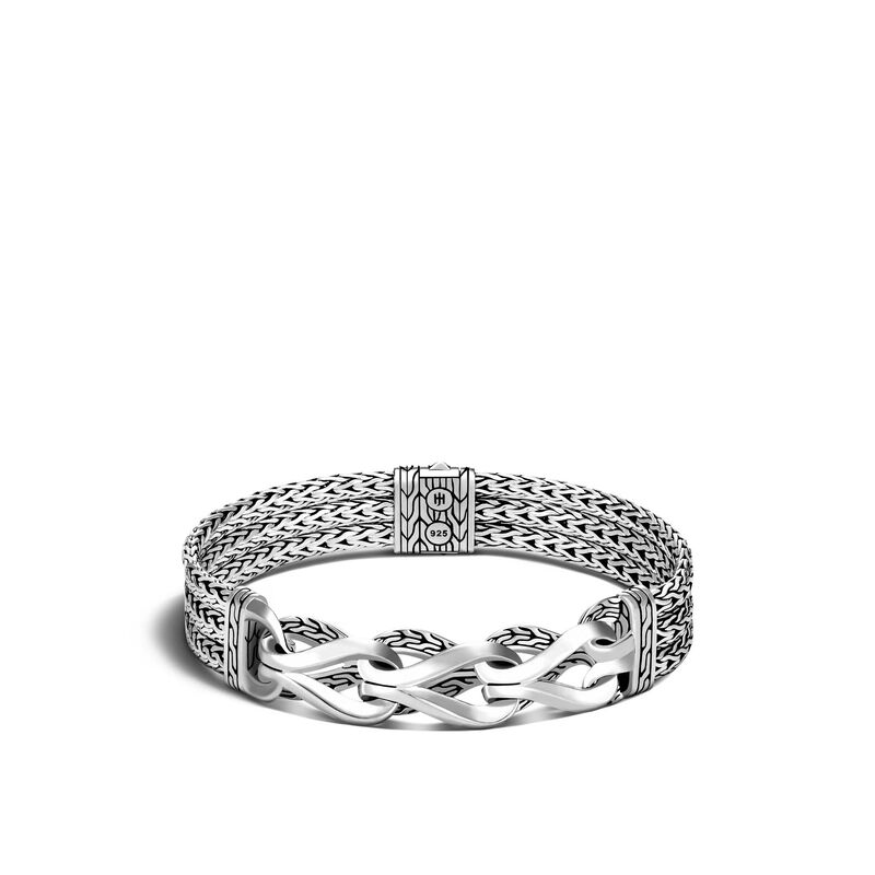 Asli Classic Chain Link Station 10.5MM Bracelet in Silver, , large