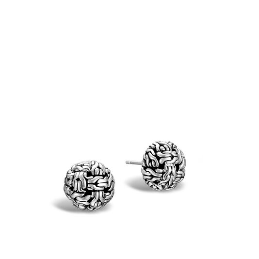 Classic Chain Stud Earring in Silver, , large
