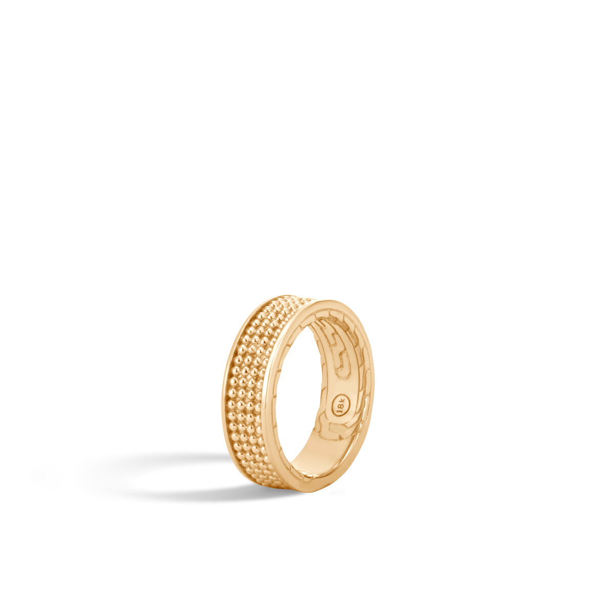 Chain Jawan 7.5MM Band Ring in 18K Gold