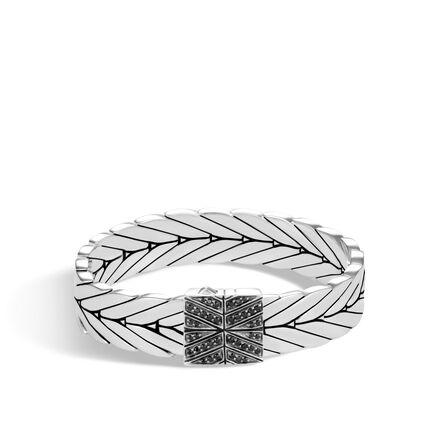 Modern Chain 13MM Bracelet in Silver with Gemstone