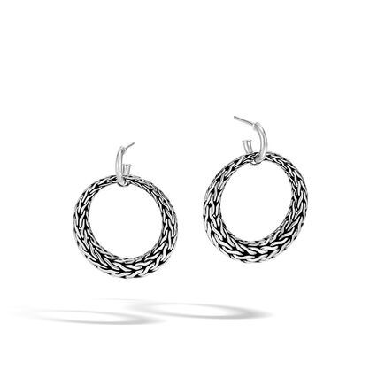 Classic Chain Drop Earring in Silver