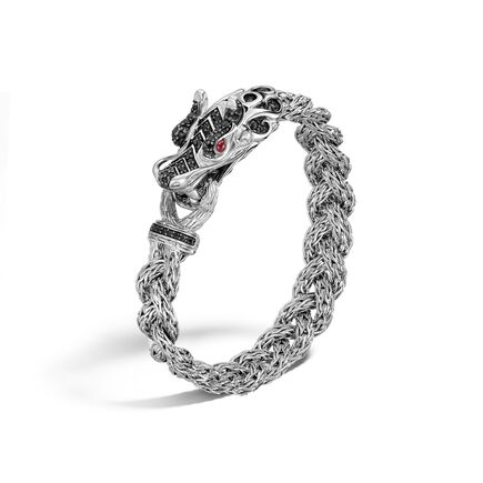 Legends Naga 11MM Station Bracelet in Silver with Gemstone