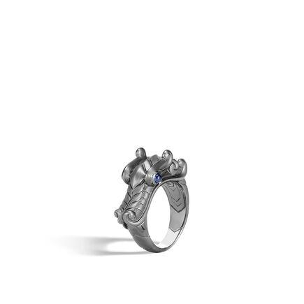 Legends Naga Ring in Blackened Silver