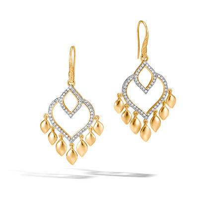 Legends Naga Chandelier Earring in 18K Gold with Diamonds
