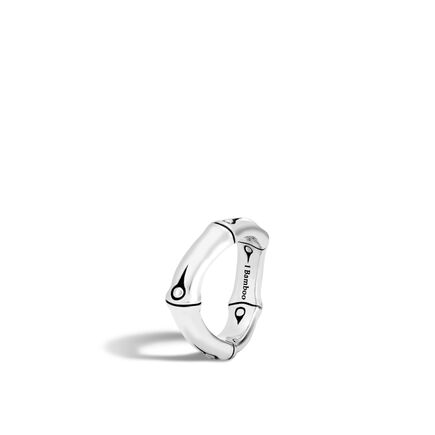 Bamboo 6MM Curved Band Ring in Silver