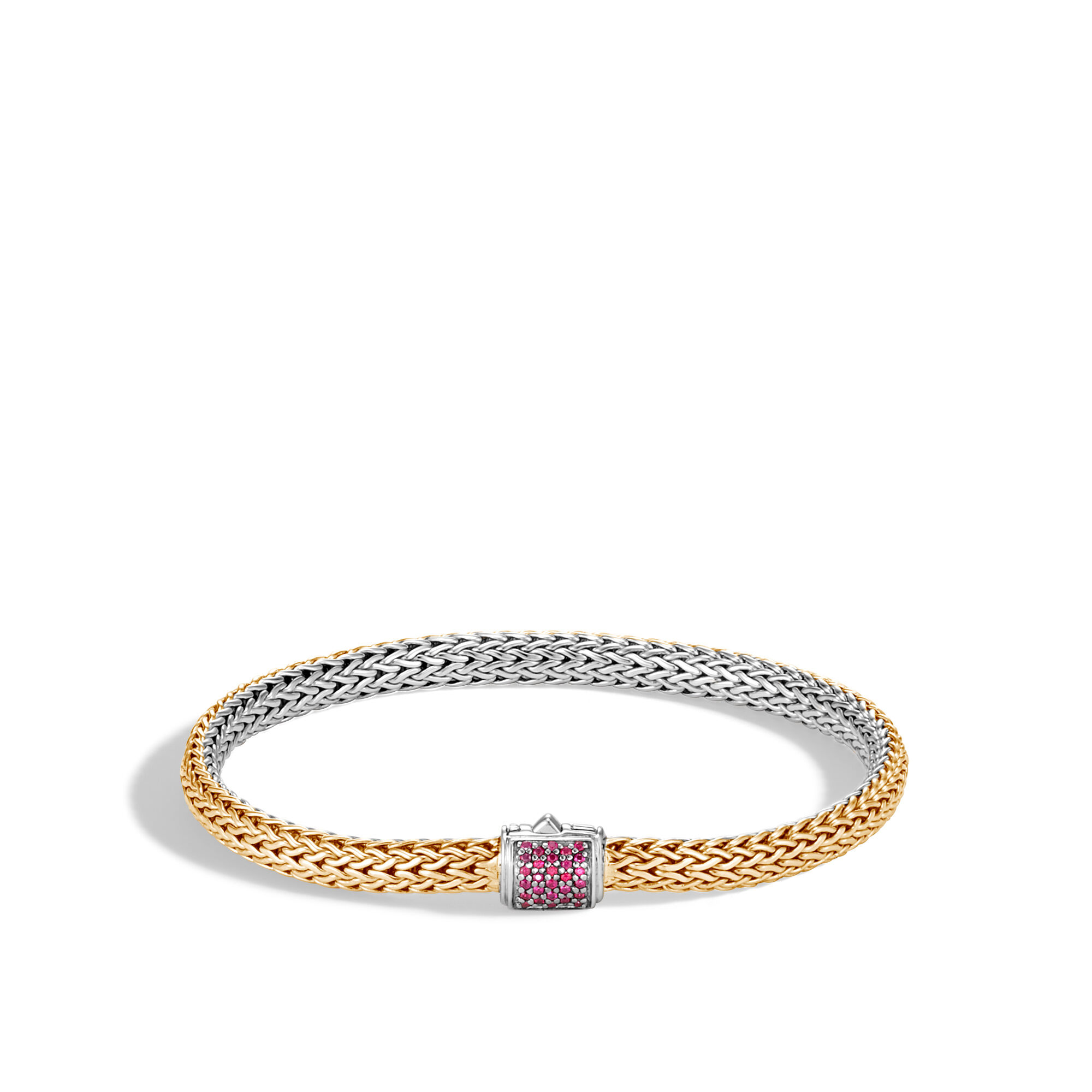 John Hardy Classic Chain Reversible Bracelet With Pink Sapphire Xs Pink sapphire 2o4SBsD3hS