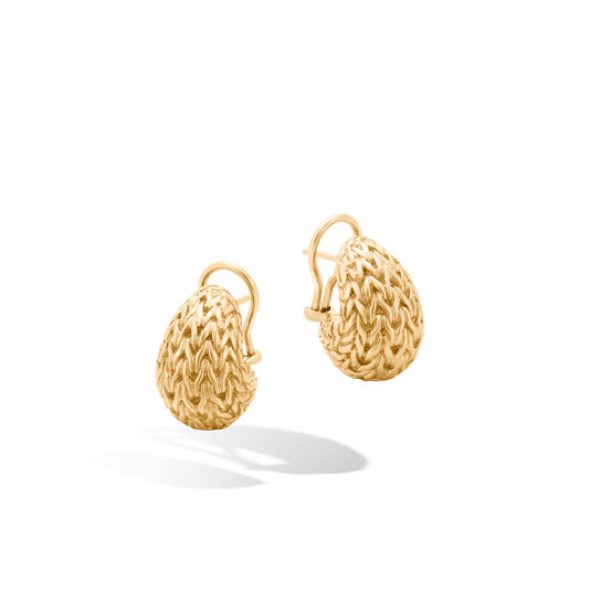 Classic Chain Graduated Buddha Belly Earring in 18K Gold, , large