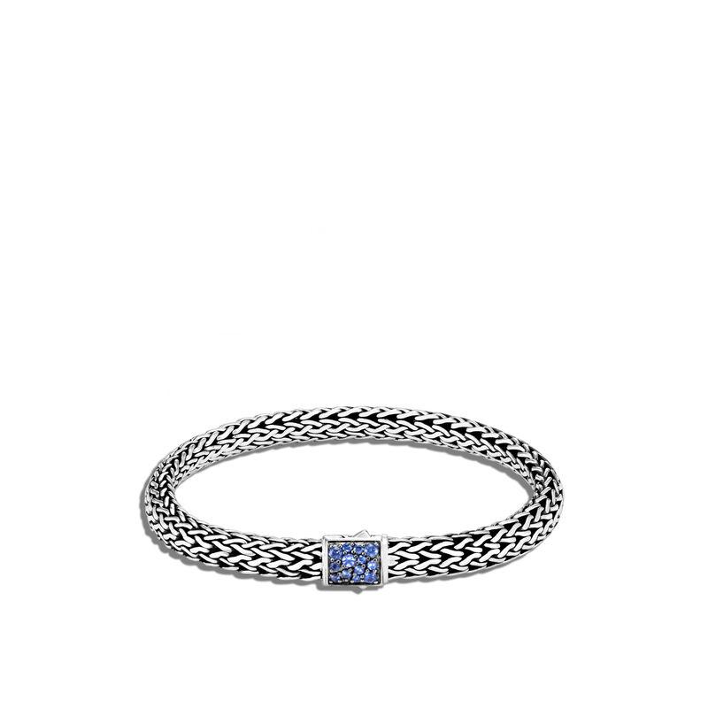Classic Chain 6.5MM Reversible Pavé Icon Bracelet, Blue Sapphire, large