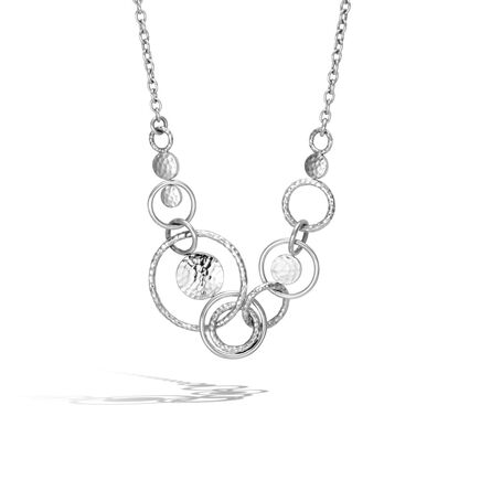 74f3a2565be7b Dot Multi Link Necklace in Hammered Silver