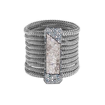 Cinta Classic Chain Multi-Row Bracelet, 18K White Gold