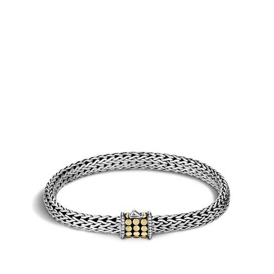 Dot 6.5MM Bracelet in Silver and 18K Gold , , large