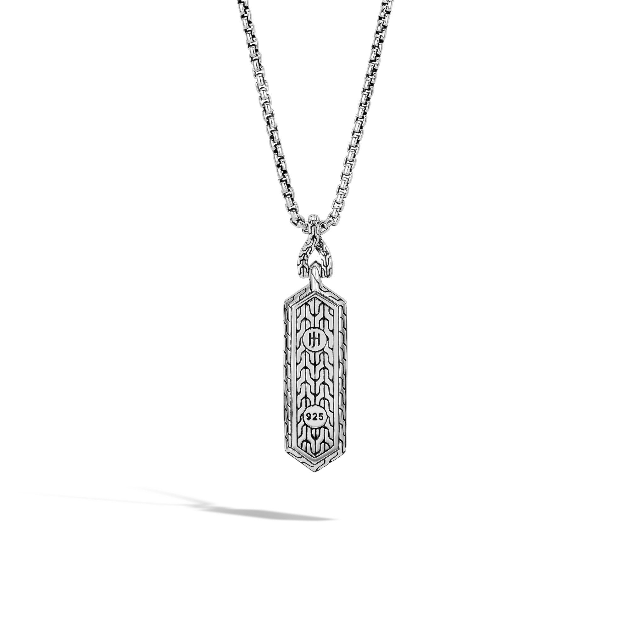 Asli Classic Chain Link Pendant Necklace in Silver