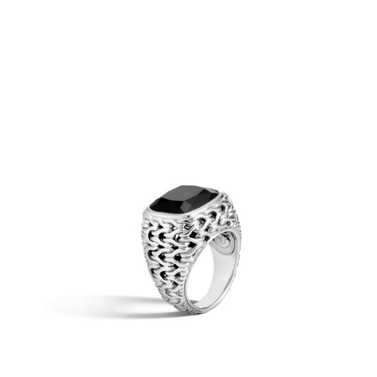 Classic Chain Magic Cut Ring in Silver with 14MM Gemstone, , large
