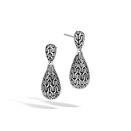 Classic Chain Drop Earring in Silver, , large