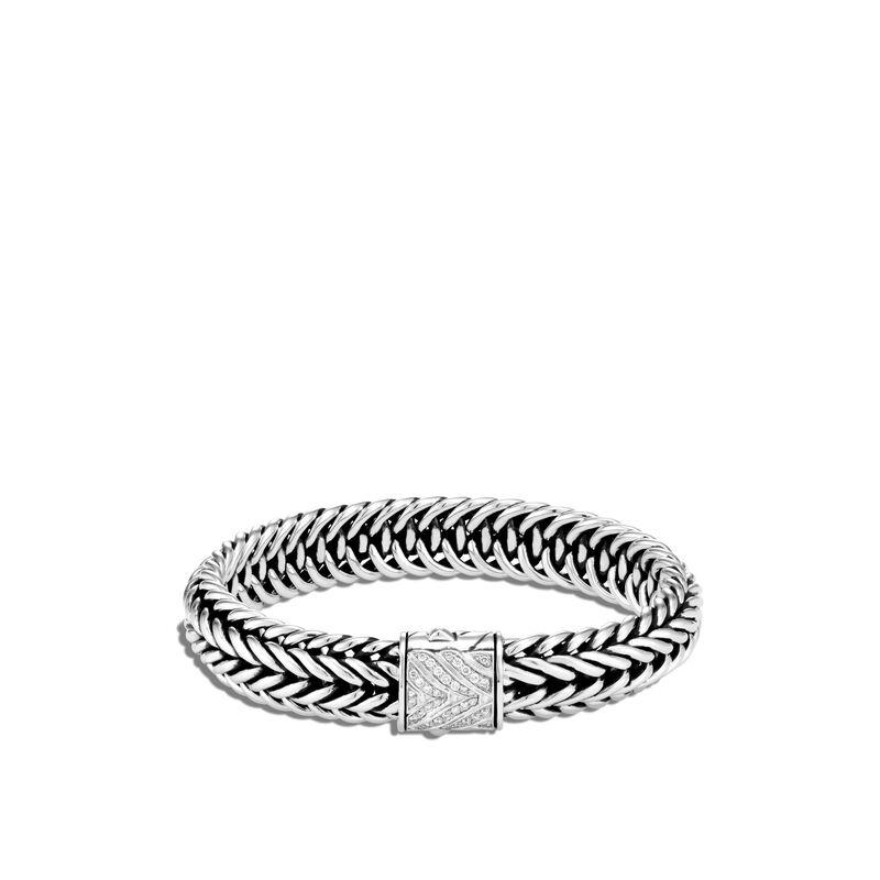 Kami Chain 12MM Bracelet, White Diamond, large