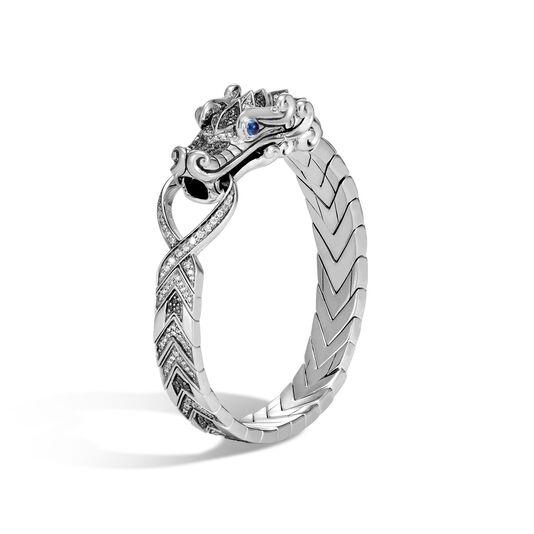 Legends Naga Station Bracelet in Silver, Gemstone, Diamonds, Grey Diamond, large