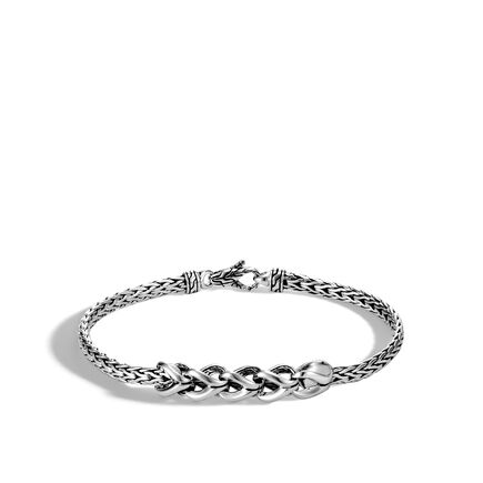 5f8bc23d3399 Asli Classic Chain Link Station Bracelet in Silver