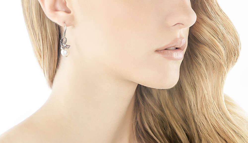 12b18a6dd Legends Naga Drop Earring in Silver, 11MM Pearl, Gemstone