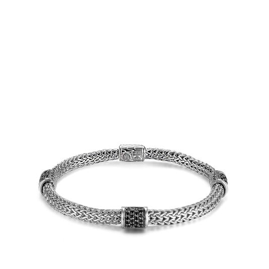 Classic Chain 5MM Bracelet in Silver with Gemstone, , large