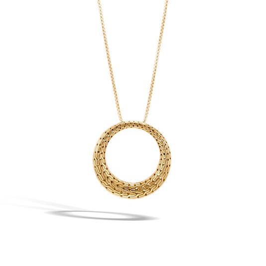 Classic Chain Graduated Pendant Necklace in 18K Gold, , large