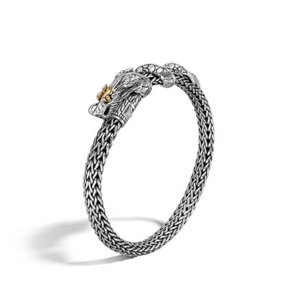 Legends Naga 6.5MM Station Bracelet in Silver and 18K Gold