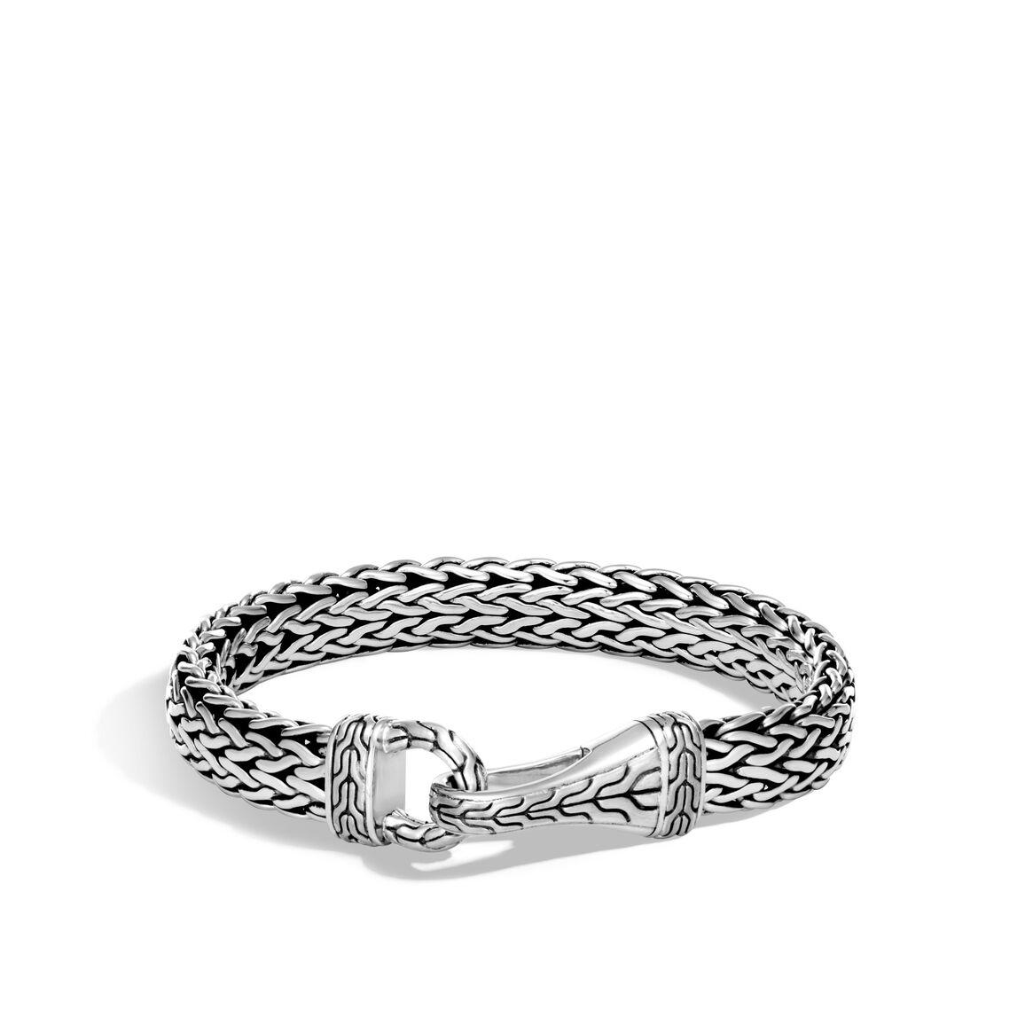 Classic Chain 11MM Hook Bracelet in Silver