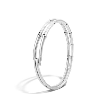 Bamboo Bangle in Silver