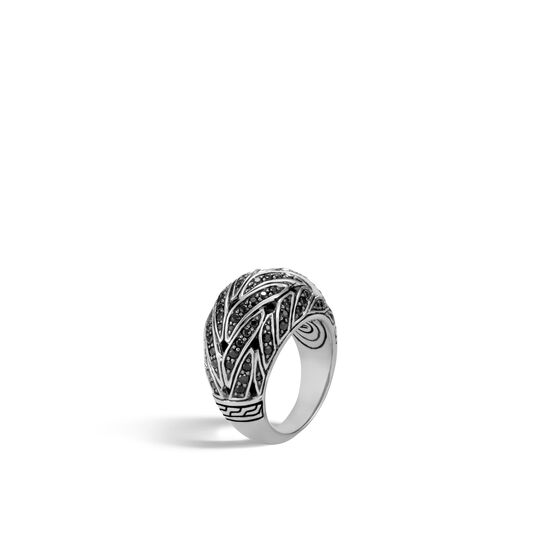 Classic Chain 15MM Dome Ring in Silver with Gemstone, , large