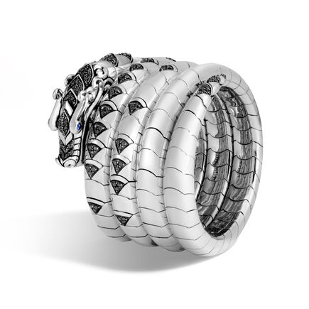 Legends Naga Multi Coil Bracelet in Silver with Gemstone