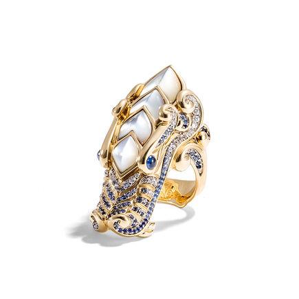 Cinta Legends Naga Trilogy Ocean Ring in 18K Gold
