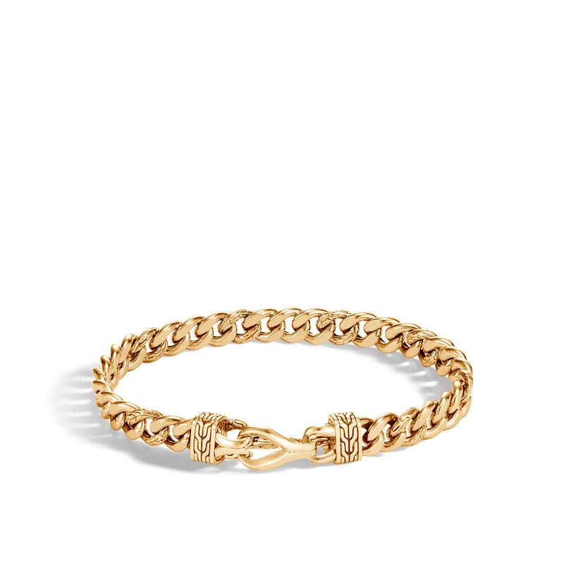 Asli Classic Chain Curb Link 8MM Bracelet in 18K Gold, , large