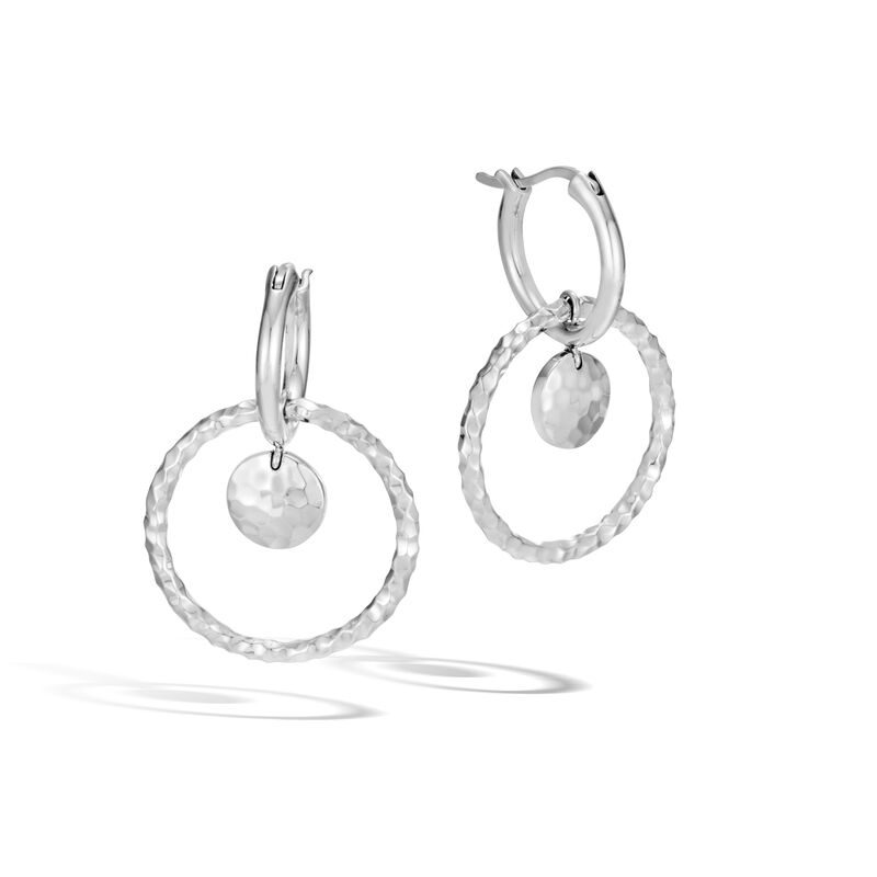 176a5eeff Dot Drop Earring in Hammered Silver, , large