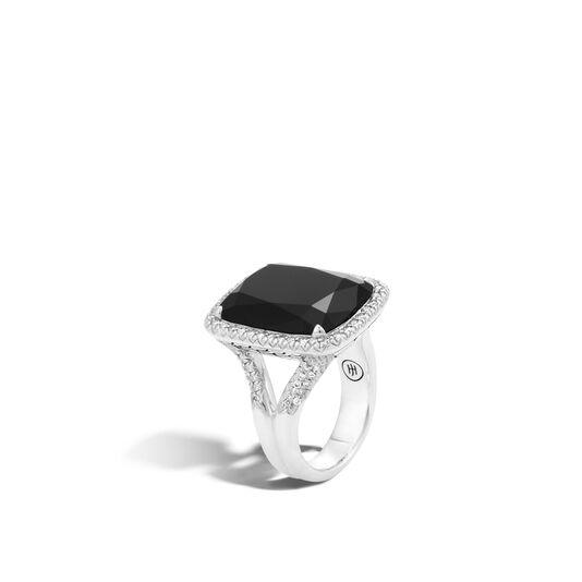 Classic Chain Magic Cut Ring, Silver, 20x15MM Gems, Diamonds, Black Onyx, large