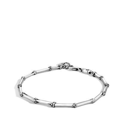 Bamboo 2.5MM Link Bracelet in Silver