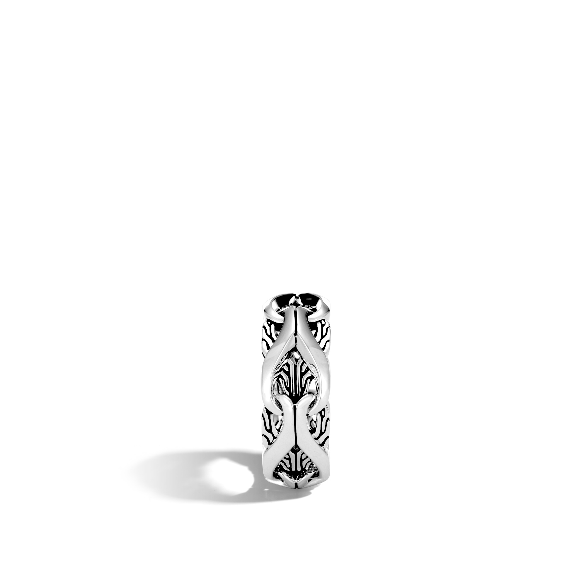 Asli Classic Chain Link 9MM Band Ring in Silver, , large